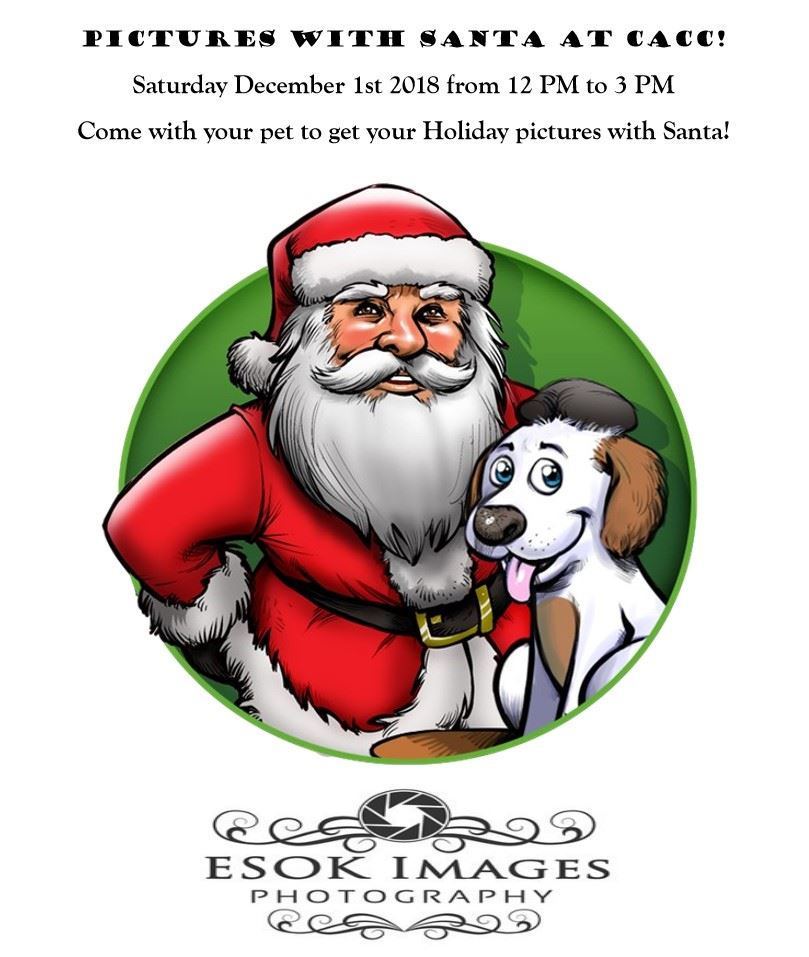 Newsletter banner for Pictures with Santa at CACC